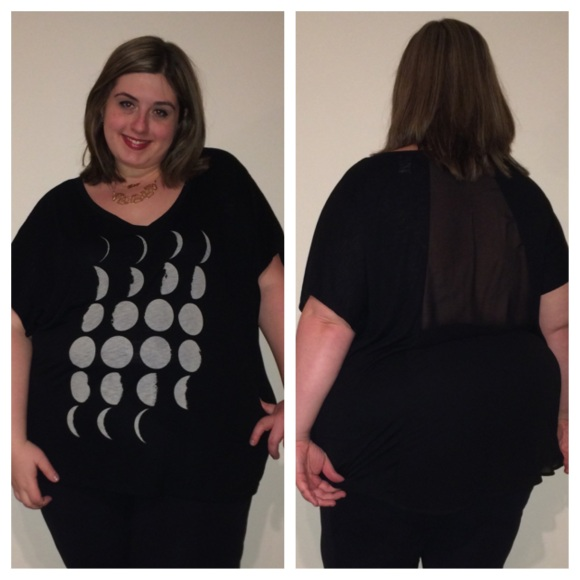 Moon Phases Chiffon-Back Graphic Tee