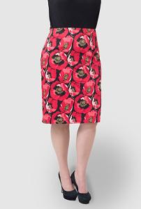Gwynnie Bee: Kiyonna Poppy Print Skirt