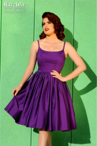 Jenny Dress in Dark Purple